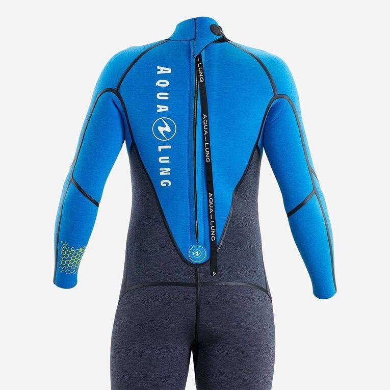AquaFlex 5mm Wetsuit - Men, Grey/Blue, hi-res image number 3