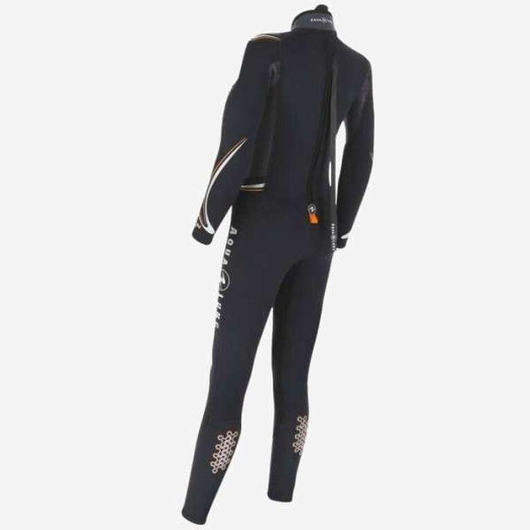 Dive 7mm Wetsuit Women, Black/Orange, hi-res image number 1