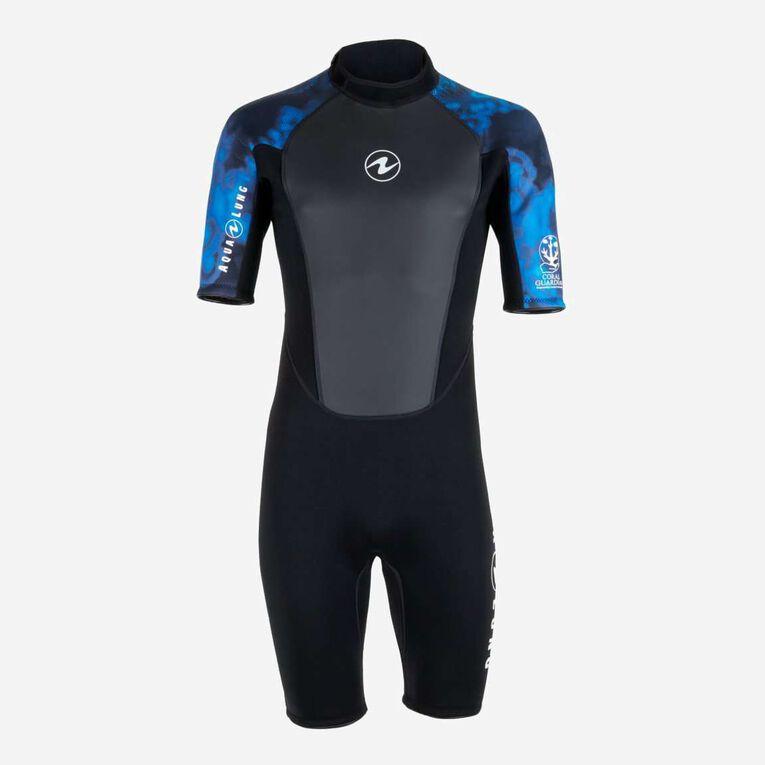 HydroFlex 3mm Coral Guardian Shorty Men, Black/Blue, hi-res image number 0