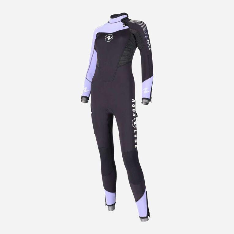 DynaFlex 7mm Wetsuit Women, Black/Purple, hi-res image number 1