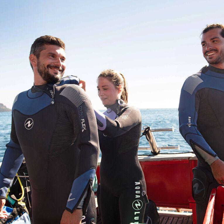 DynaFlex 7mm Wetsuit Men, Black/Navy blue, hi-res image number 4