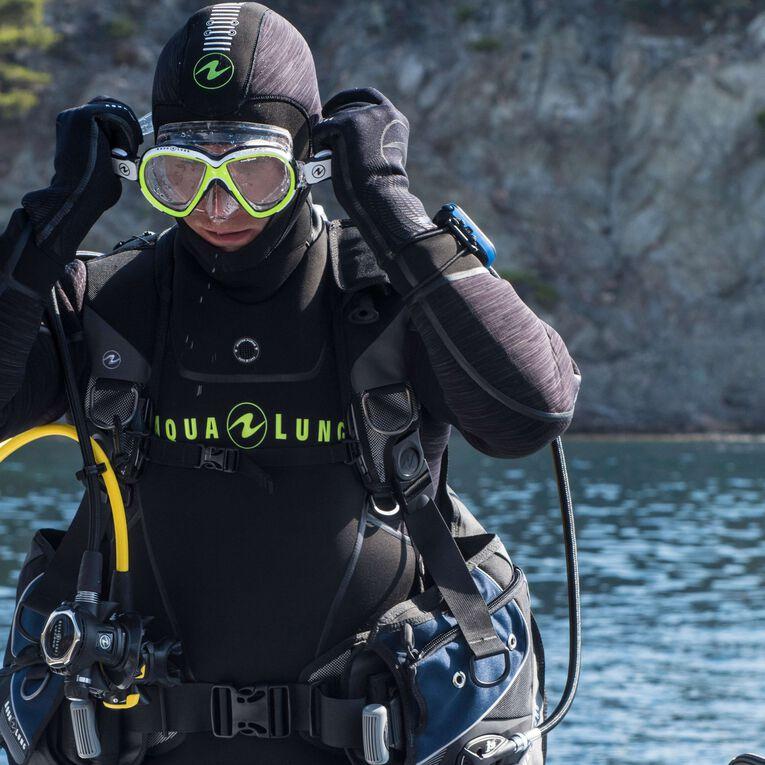 Iceland 7mm Semi-Dry Wetsuit Men, Black/Hot lime, hi-res image number 6