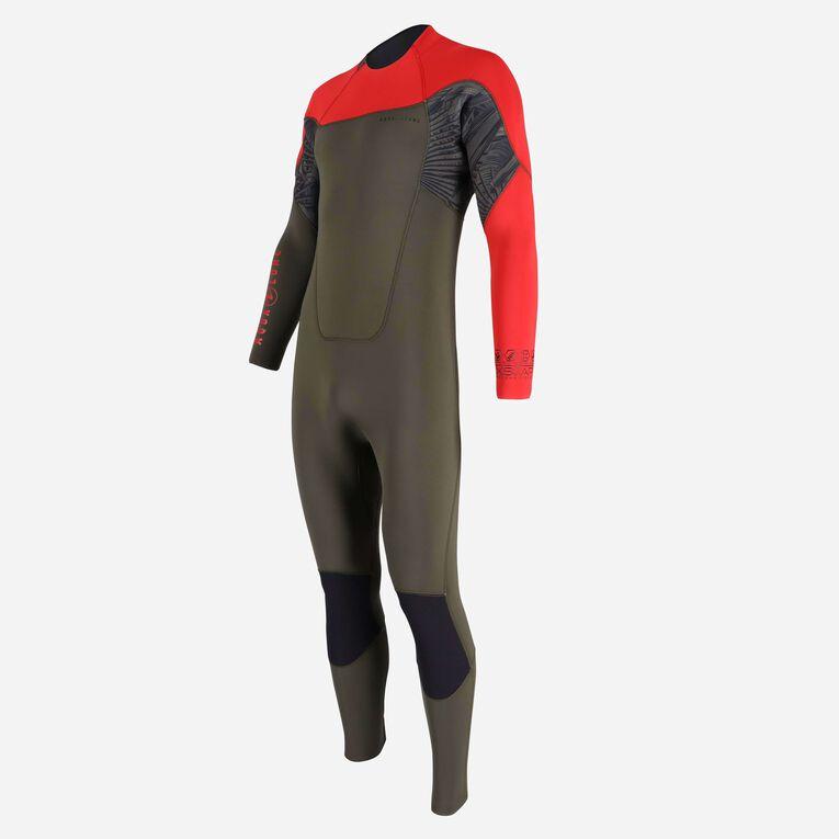Xscape 4/3mm Wetsuit - Men, Dark green/Red, hi-res image number 2