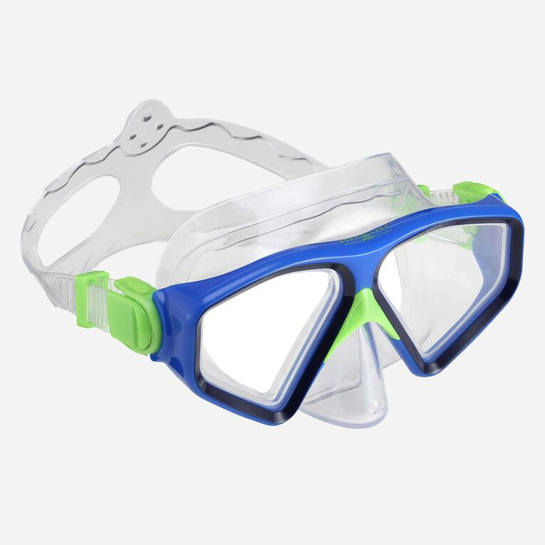 Saturn Snorkeling mask, Navy blue/Light blue, hi-res image number 0