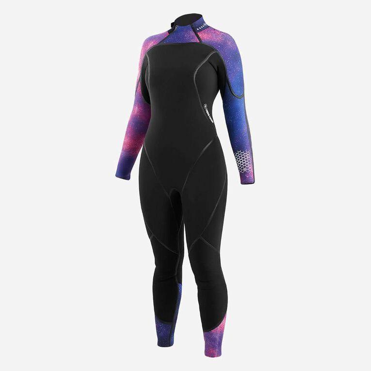 AquaFlex 5mm Wetsuit - Women, Black/Twilight, hi-res image number 1