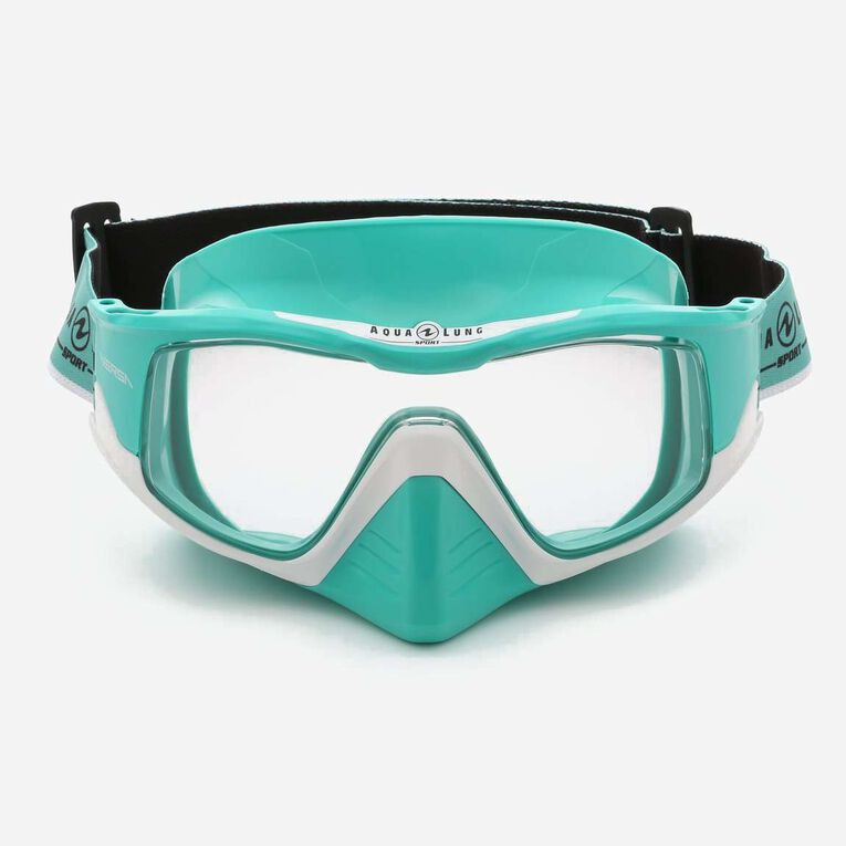 Versa Snorkeling mask, Turquoise/White/Lenses clear, hi-res image number 1