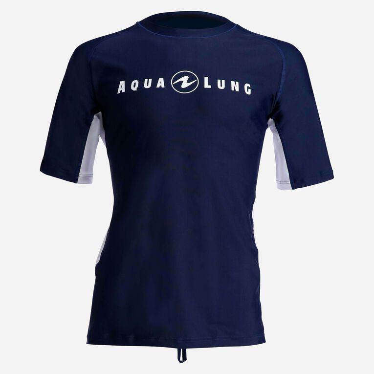 Rashguard Short Sleeve loose fit - Men, Navy blue/White, hi-res image number 0