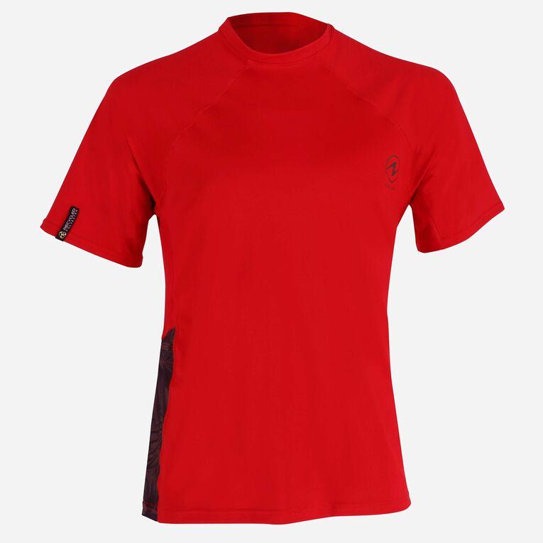 Xscape Rashguard short sleeves - Men, Red/Dark green, hi-res image number 0