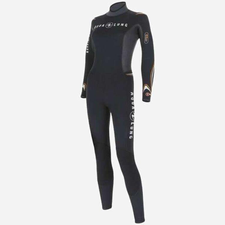 Dive 7mm Wetsuit Women, Schwarz/Orange, hi-res image number 2