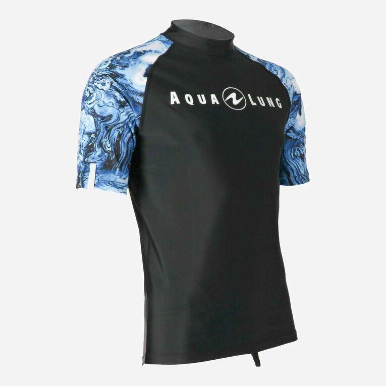 Aqua Rashguard Short Sleeve - Men, Navy blue/White, hi-res image number 1