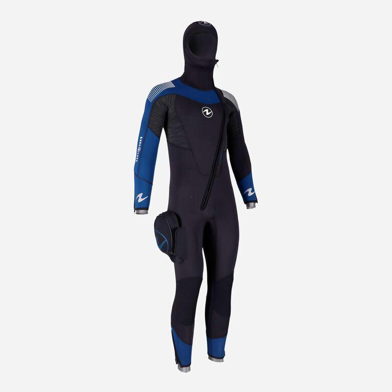 DynaFlex 6.5mm Wetsuit with Hood Men, Black/Navy blue, hi-res image number 1