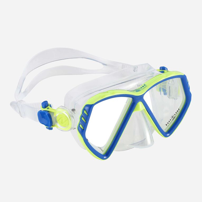 Cub Snorkeling mask Kids, Hellblau/Leuchtendes Grün, hi-res image number 0