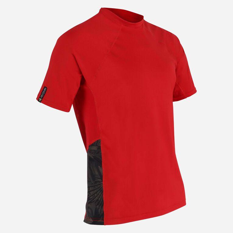 Xscape Rashguard short sleeves - Men, Red/Dark green, hi-res image number 1