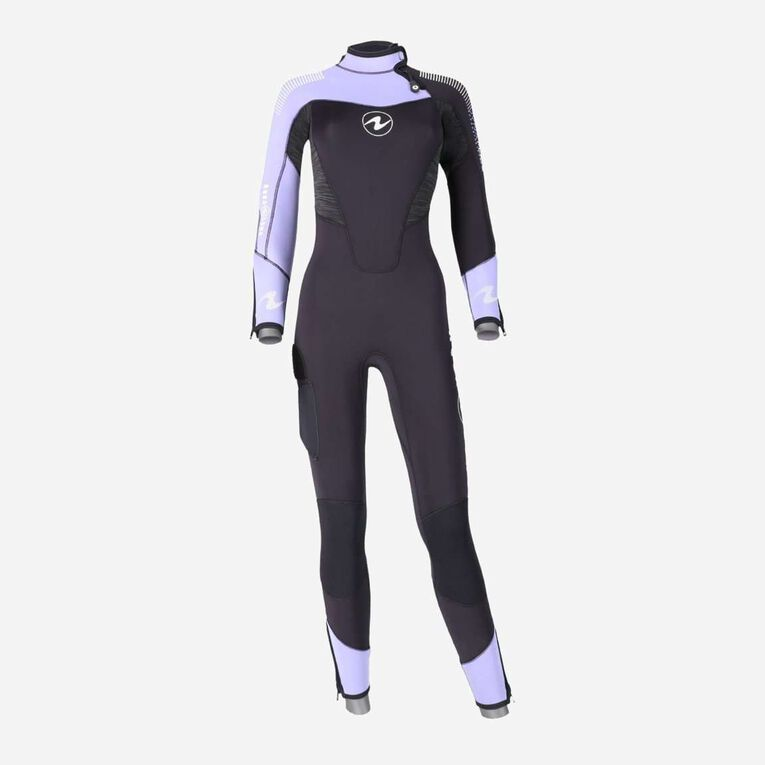 DynaFlex 5.5mm Wetsuit Women, Schwarz/Lila, hi-res image number 0