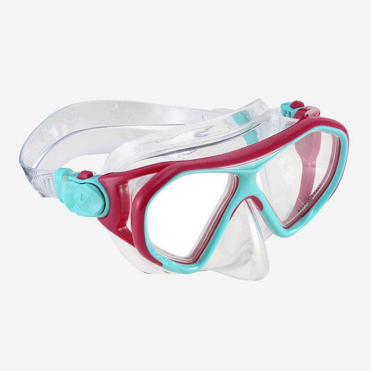 Urchin Snorkeling mask Junior, Bright pink/Turquoise, hi-res image number 0