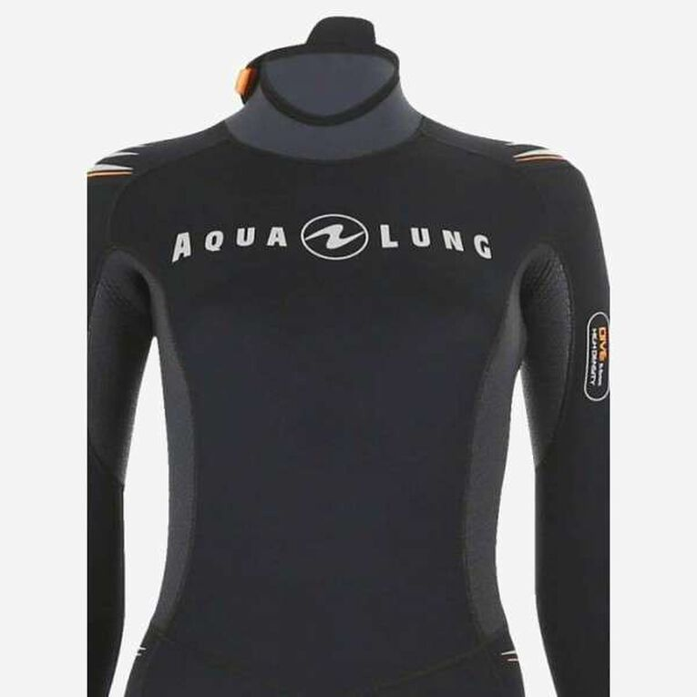 Dive 7mm Wetsuit Women, Schwarz/Orange, hi-res image number 3