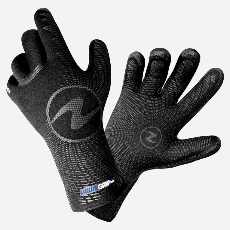 3mm Liquid Grip Gloves, Black/Blue, hi-res image number 0