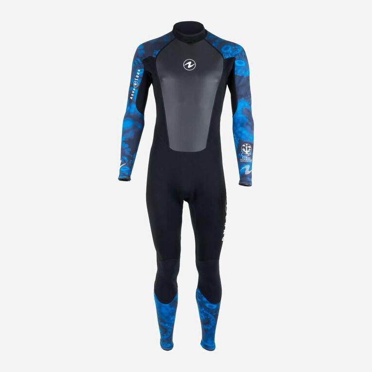 HydroFlex 3mm Coral Guardian Wetsuit Men, Black/Blue, hi-res image number 0